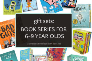 collage of book sets for kids