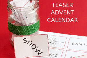 brain teaser advent calendar printable and decorative jar