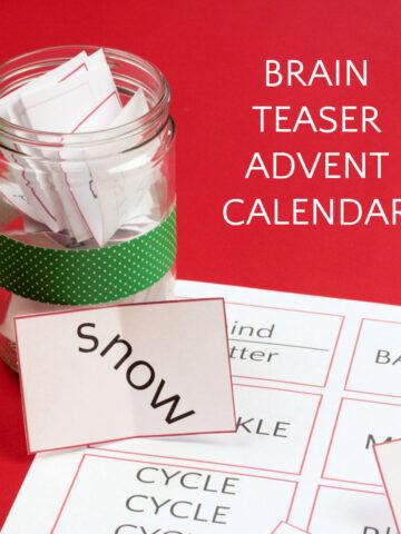 brain teaser advent calendar printable and decorative jar