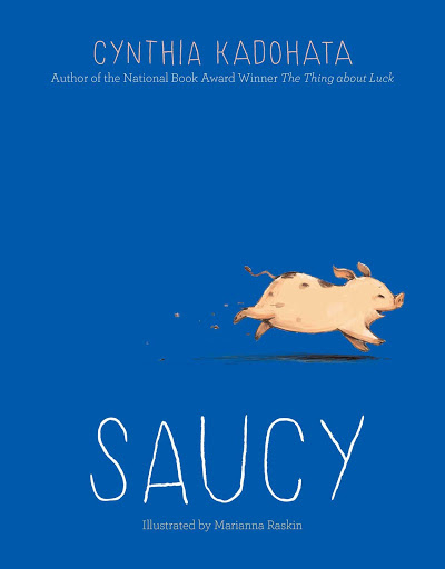 saucy book cover with pig