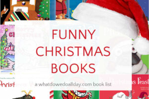 Funny christmas books collage of book covers