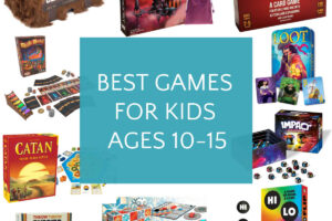 collage of games for kids ages 10-15