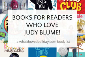 collage of books for readers who like judy blume