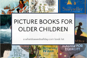 picture books for older children book cover collage