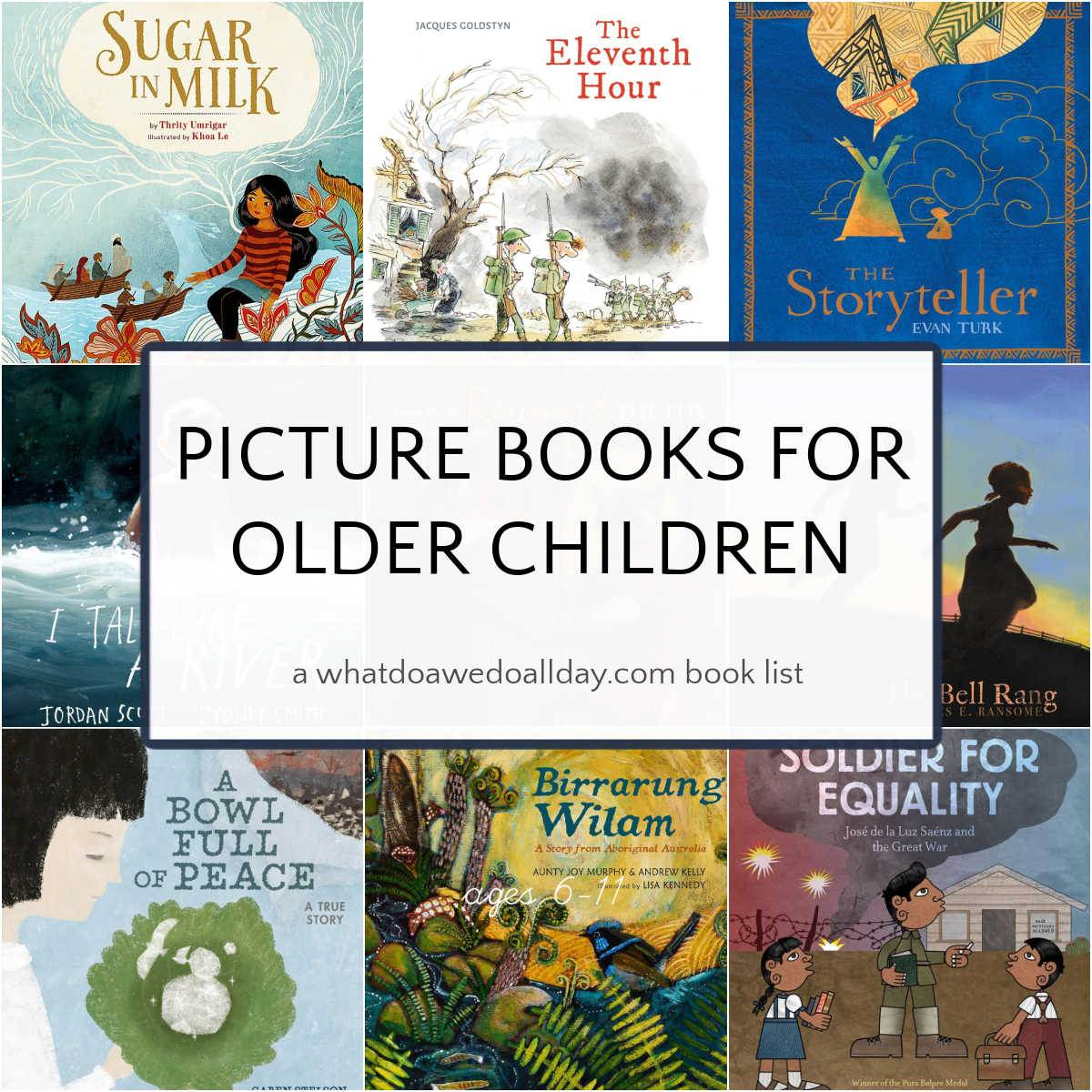 picture books for older children book cover collage