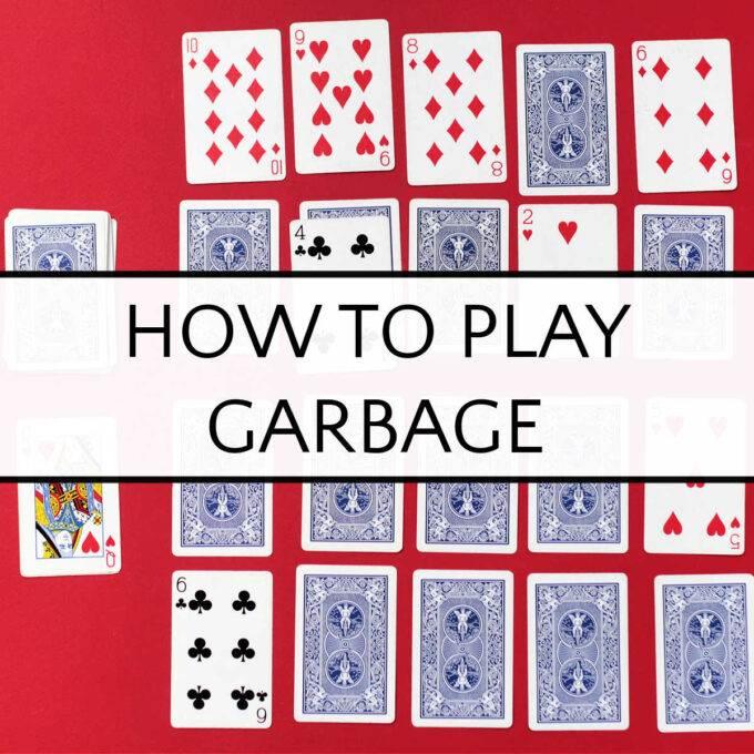garbage card game in progress