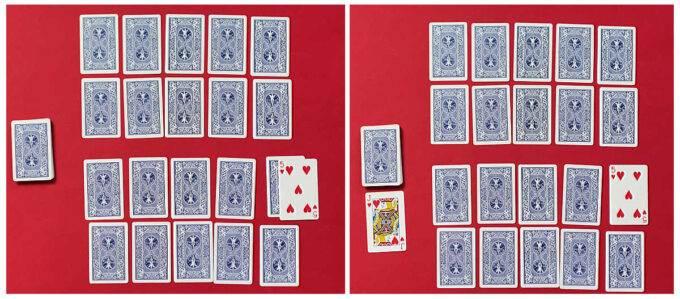 garbage card game revealing 5 and jack
