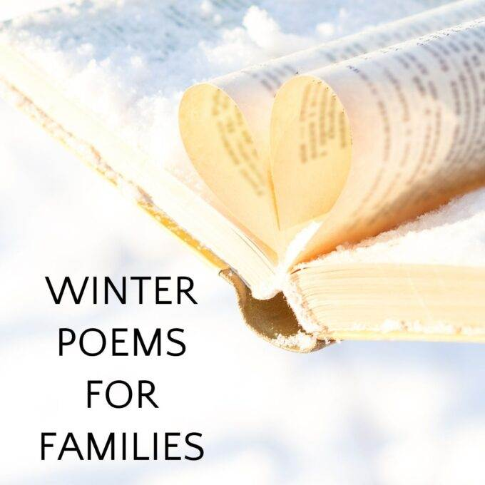 Winter poems for children book in snow
