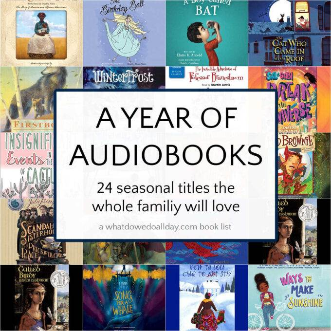 collage of seasonal family Audiobook covers