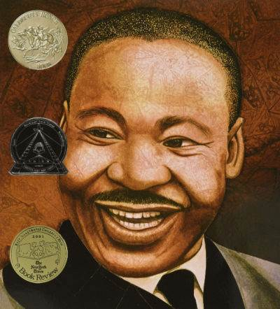 Martin's Big Words book cover showing portrait of MLK