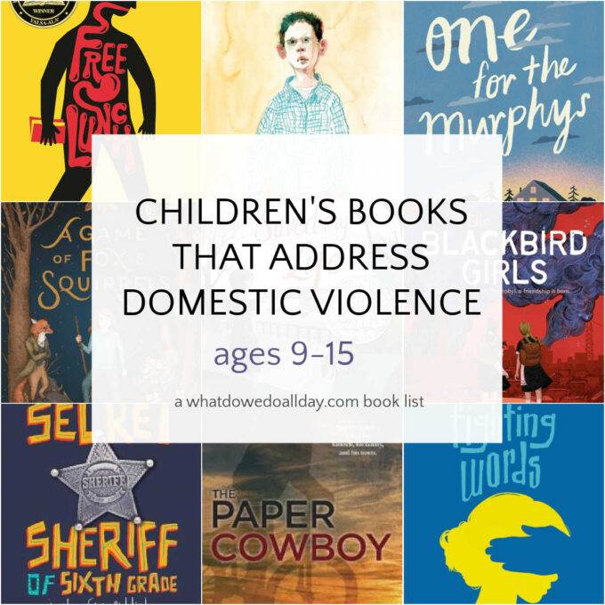 Collection of children's books that address domestic violence
