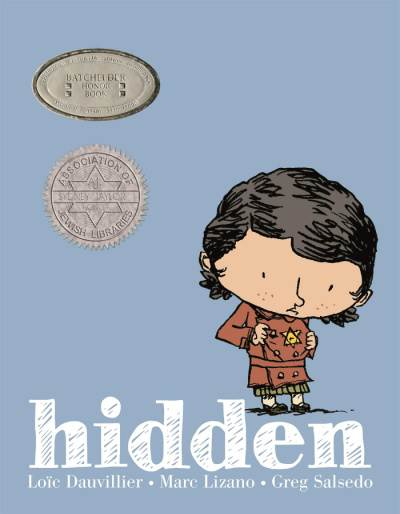 Book cover of Hidden graphic novel inspired by events in the Holocaust