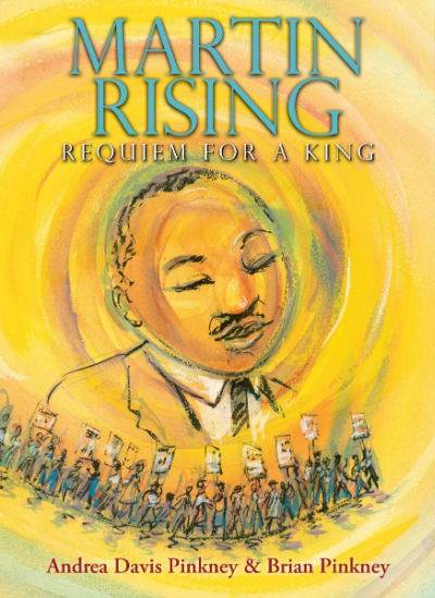 Martin Rising picture book cover with yellow background