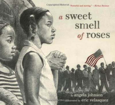a sweet smell of roses picture book cover