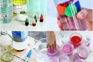 collage of science experiments for kids