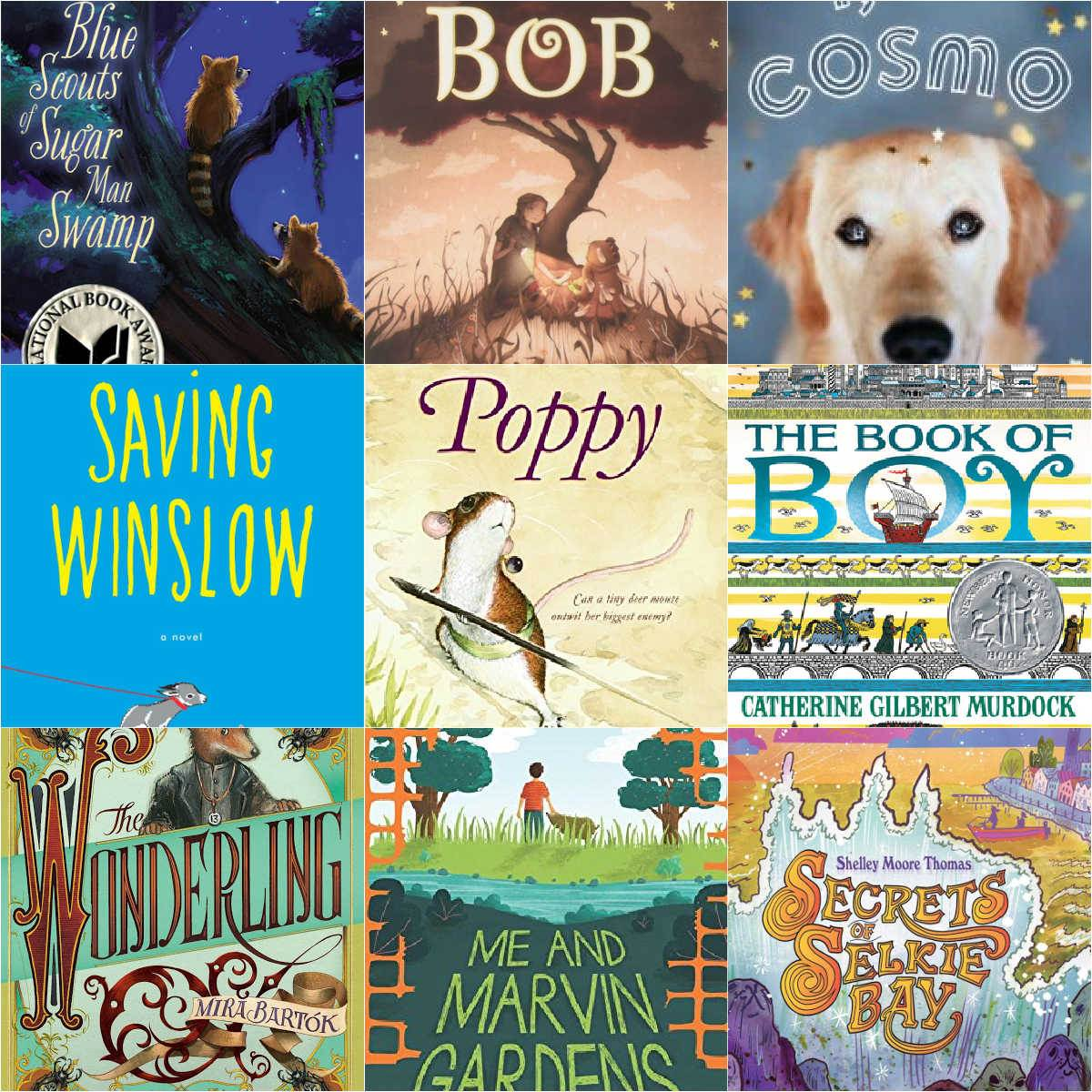 collage of books for kids who like the one and only ivan