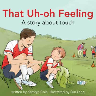 That Uh-Oh Feeling book cover showing girl talking to soccer coach