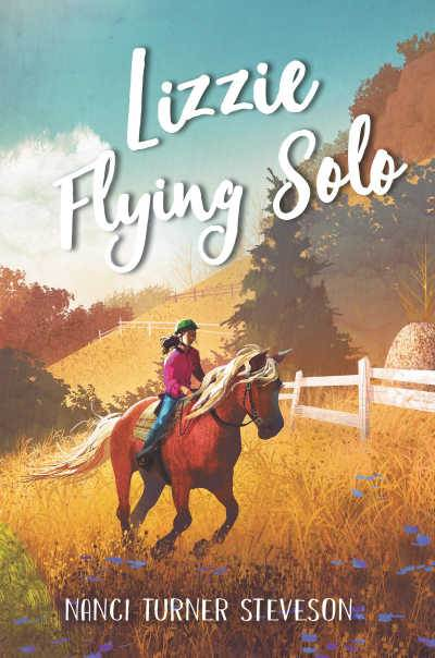 Lizzie Flying Solo book cover showing girl riding a horse