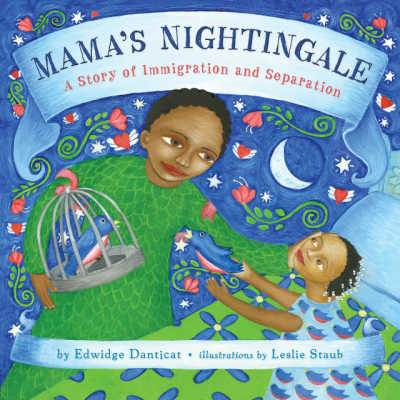 Mama's Nightingale A Story of Immigration and Separation book cover showing mother and daughter with arms outstretched