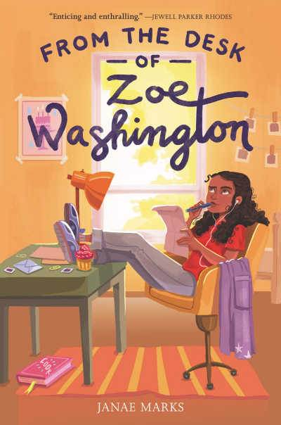 From the Desk of Zoe Washington book cover showing girl sitting at desk with letter