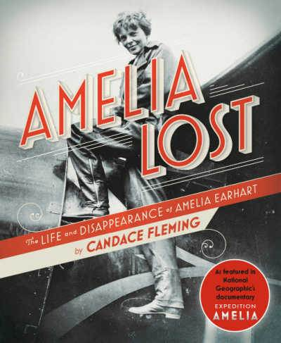 Amelia Lost book cover showing photograph of Amelia Earhart