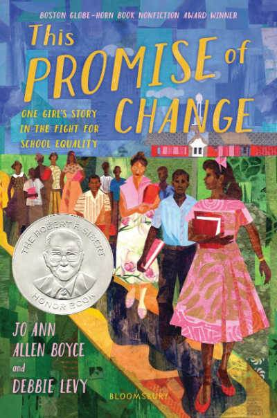 This Promise of Change book cover showing Black children marching with school books