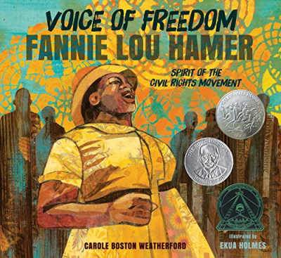 Voices of Freedom book cover shoing Fannie Lou Hamer
