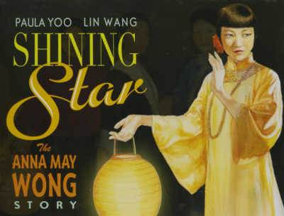 Book cover showing Anna Wong holding paper lantern