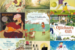 collage of Asian children's books