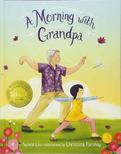 A Morning with Grandpa book cover showing Asian girl and Grandpa doing Tai Chi