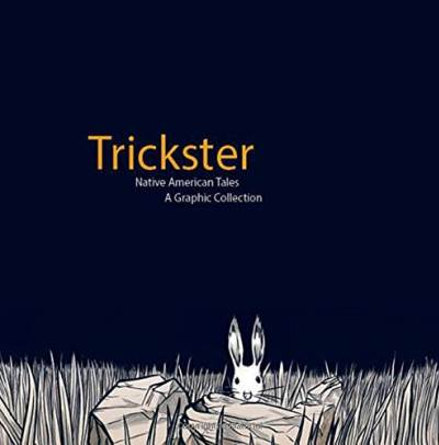 Trickster graphic novel cover showing rabbit in the grass