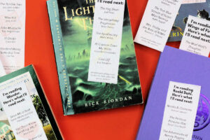 paper bookmarks and children's books
