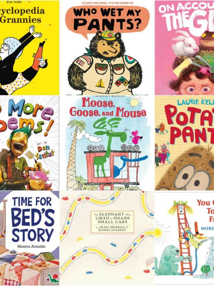 Collage of wacky children's books