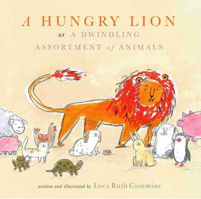 A Hungry Lion book cover featuring orange lion and smaller animals