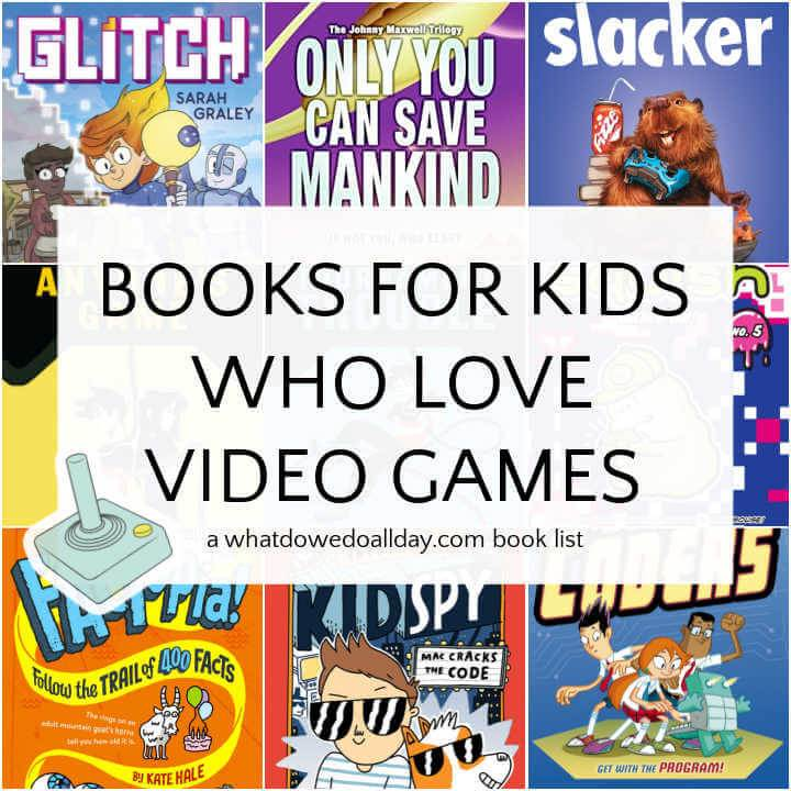 Collage of books about video games