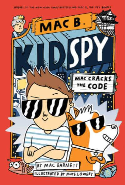 Mac Cracks the Code book cover showing boy and dog in sunglasses