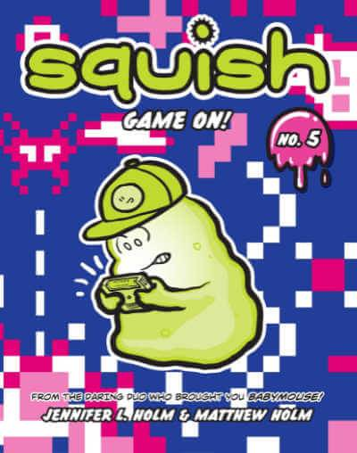 Book cover showing amoeba playing a video game