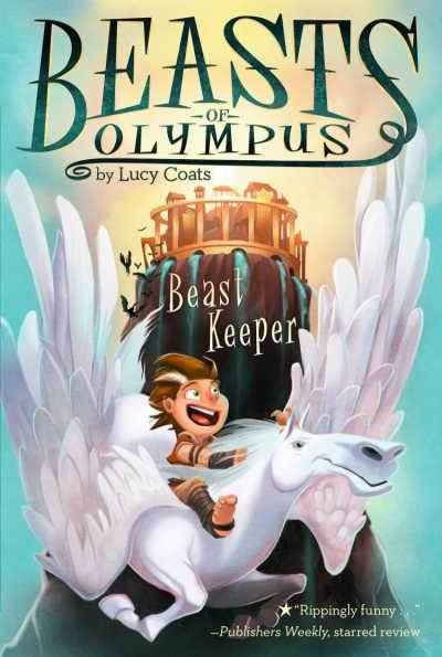Beasts of Olympus book cover with Pan and Pegasus