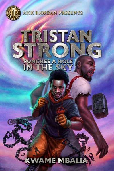 Tristan Strong book cover showing boy back to back with Paul Bunyon in warrior stance