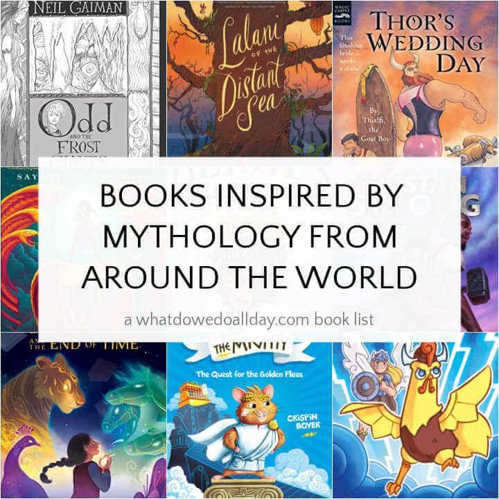 collage of children's novels based on mythology