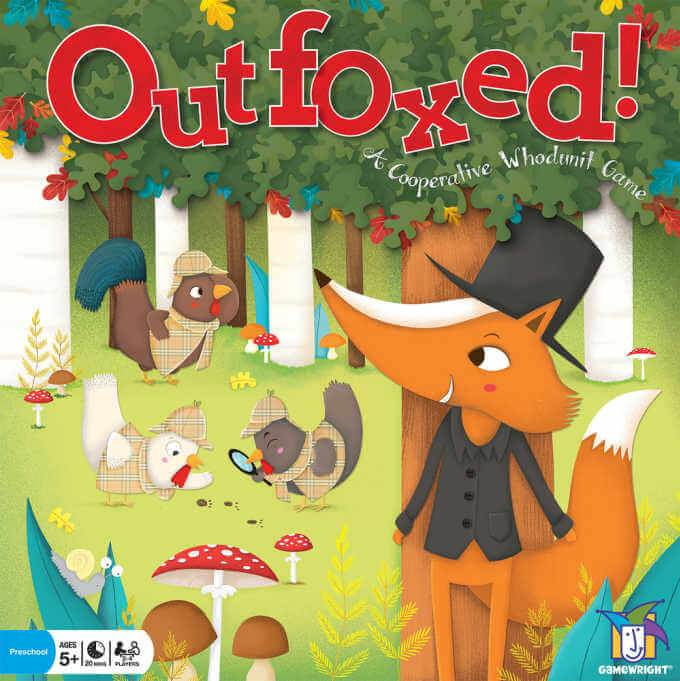 Outfoxed board game box