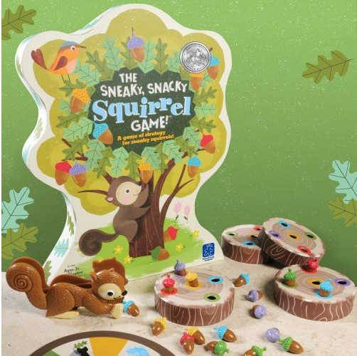 Sneaky Snacky preschool game box and layout with plastic pieces and spinner