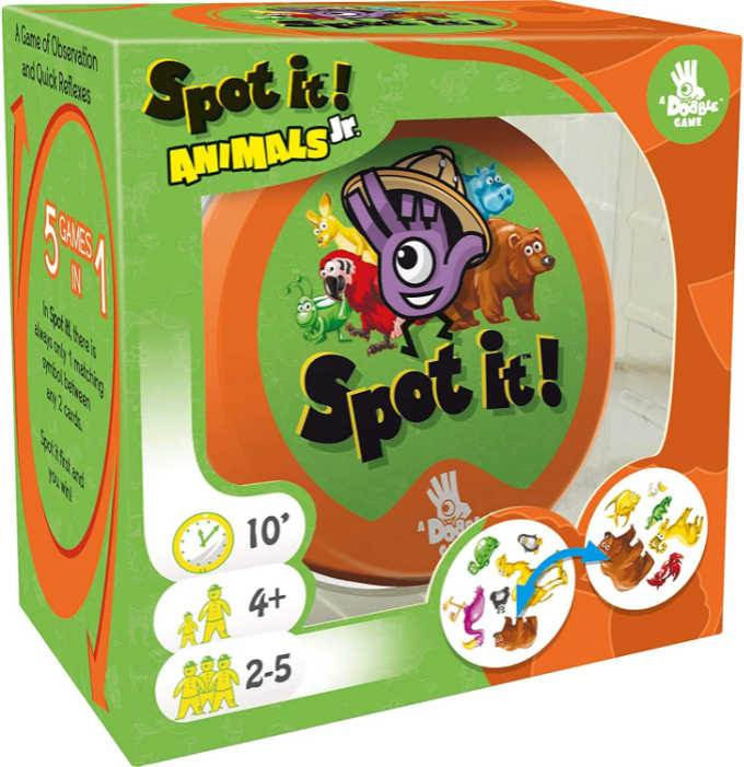 Spot it Jr card game in box