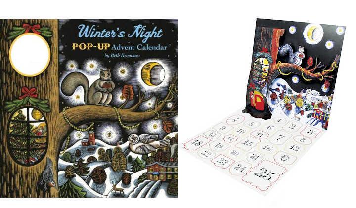 illustrated winter pop up advent calendar