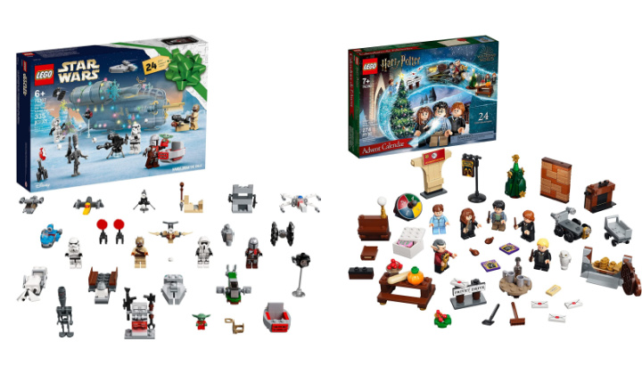 Side by side LEGO advent calendars