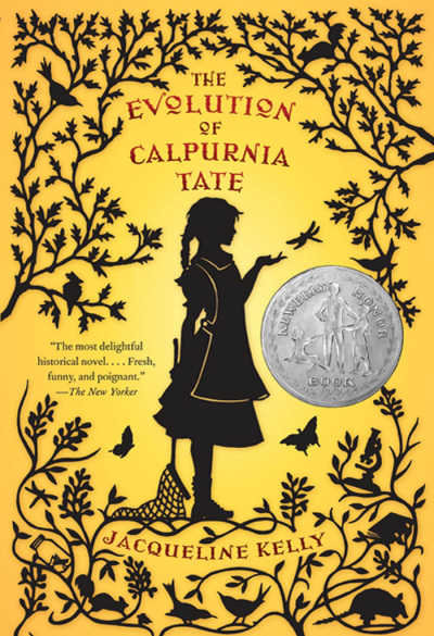 Book cover The Evolution of Calpurnia Tate featuring silhouette of girl and tree