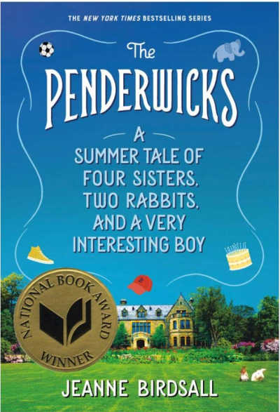 The Penderwicks book cover with house in landscape