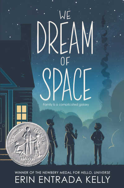 We Dream of Space book cover showing three children looking at night sky