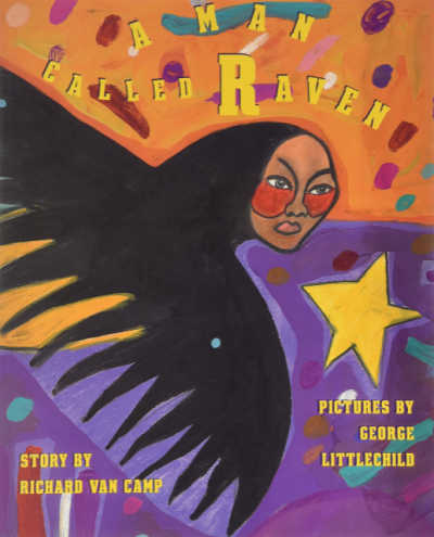 A Man Called Raven book covers showing raven with human face
