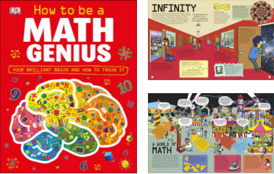 How to be a Math Genius book cover and two interior pages